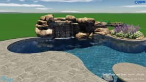 Crisp Pool With Waterfall
